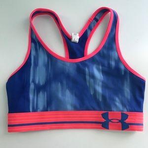 PINK/BLUE Under Armour Sports Bra
